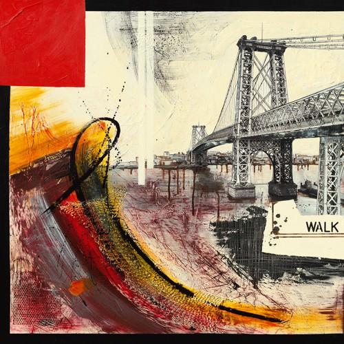Walk Over East River I von Caroline Laffargue