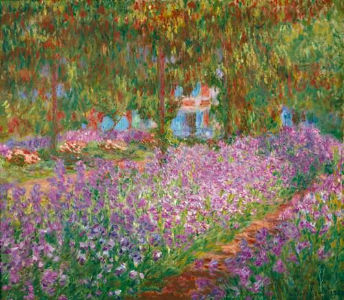 Irisbeet in Monets Garten von Claude Monet