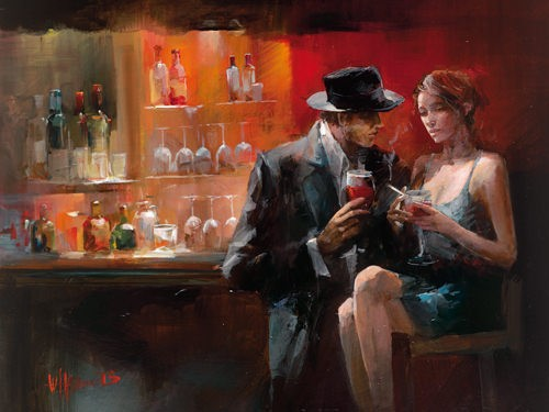 Evening in the Bar I von Willem Haenraets