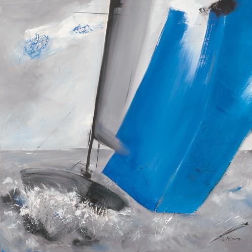 Voile bleue II von Lydie Allaire