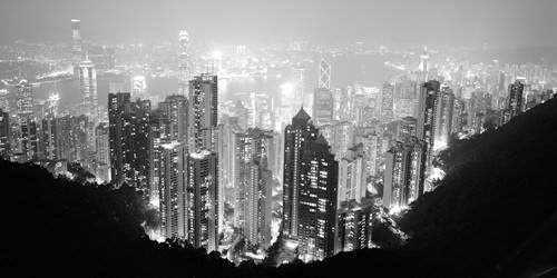 Hong Kong Skyline at Night von Dave Butcher