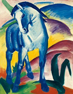 Blaues Pferd I von Franz Marc