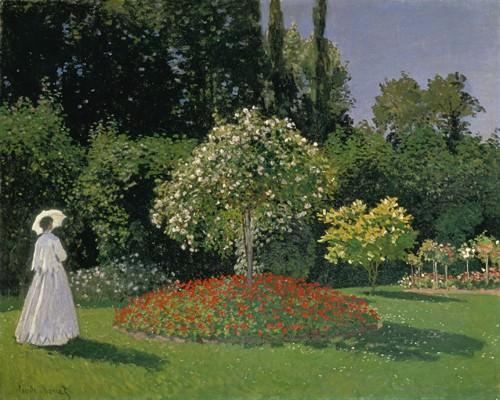 Dame im Garten, 1867 von Claude Monet