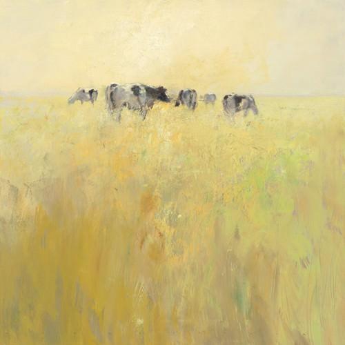 Cows in Spring von Jan Groenhart