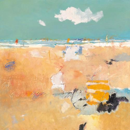 Beach with sails von Jan Groenhart