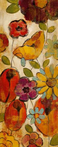 Floral Sketches on Linen II von Silvia Vassileva