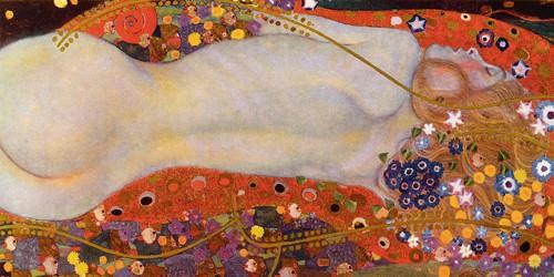Wasserschlangen II von Gustav Klimt