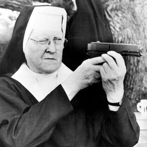 Nun with Pellet Gun 1965 von Anonym