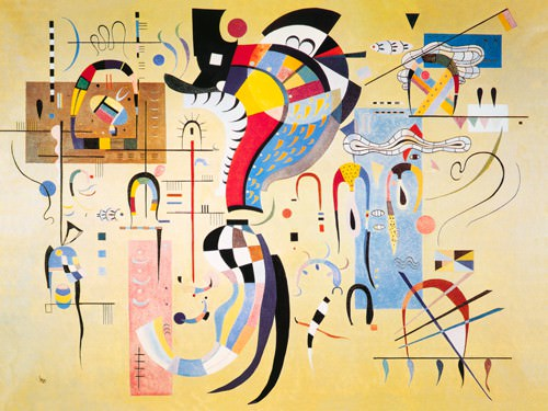 Milieu accompagne, 1937 von Wassily Kandinsky
