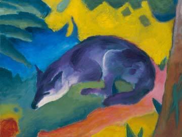 Blauschwarzer Fuchs von Franz Marc