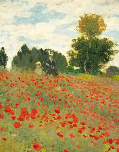 Mohnfeld bei Argenteuil (Detail) von Claude Monet