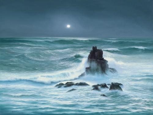 Amoured Knight Rock Lands End Cornwall von John F Sim