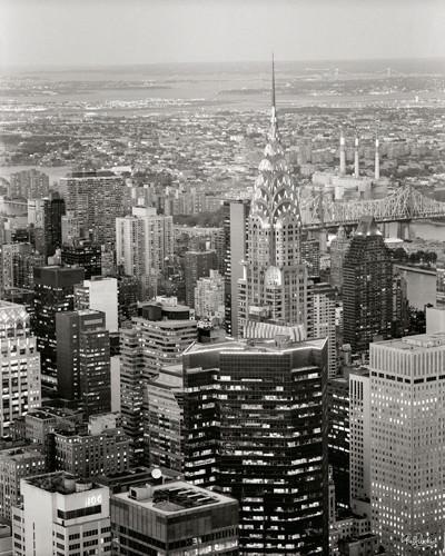 New York View over Chrysler Building von Ralf Uicker