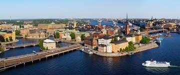 Blick auf Altstadtinsel Lübeck von Maurizio Rellini