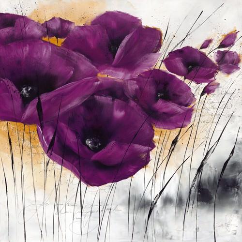 Pavot violet IV von Isabelle Zacher-Finet
