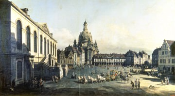 Der Neue Markt in Dresden von Canaletto