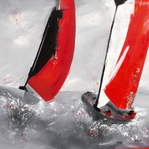 Deux voiles rouges von Lydie Allaire