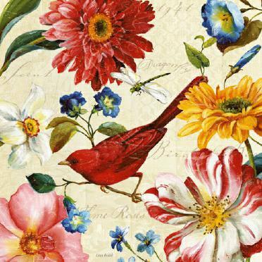 Rainbow Garden III - Cream von Lisa Audit