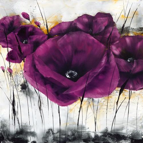Pavot violet III von Isabelle Zacher-Finet