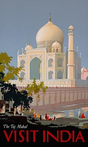 Visit India, The Taj Mahal von William Spencer Bagdatopoulus