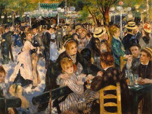 Ball auf dem Montmartre von Pierre-Auguste Renoir