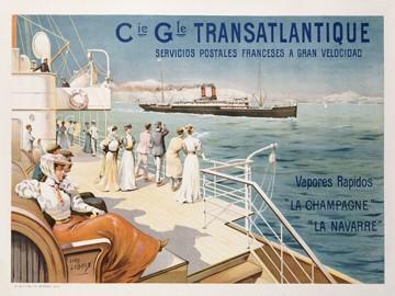 Cie. Gle. Transatlantique von Ernest Louis Lessieux