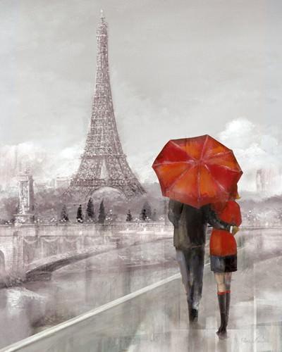 Modern Couple in Paris von Ruane Manning