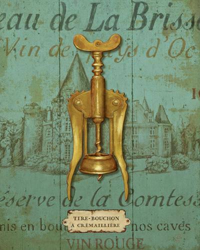 Antique Corkscrew III Blue von Daphne Brissonnet