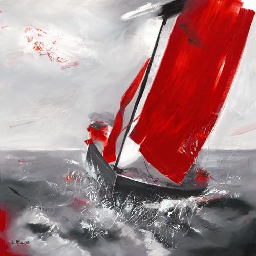 Voile rouge von Lydie Allaire