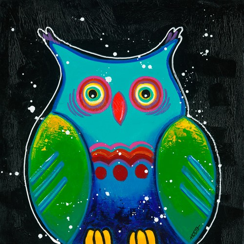 Funny Owl III von Y. Hope