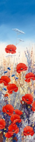 Poppy Field I von Hilary Mayes