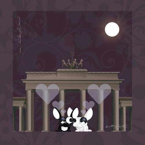 Lover by Lover - Berlin by Night von Christiaan De Coninck